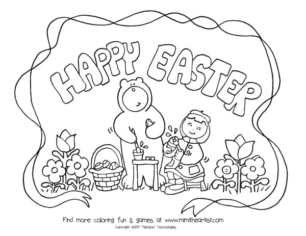 easter coloring pictures - Coloring Pages For Easter