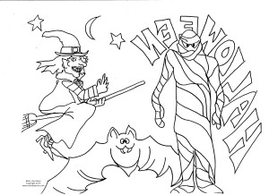 halloween drawings to print color and keep