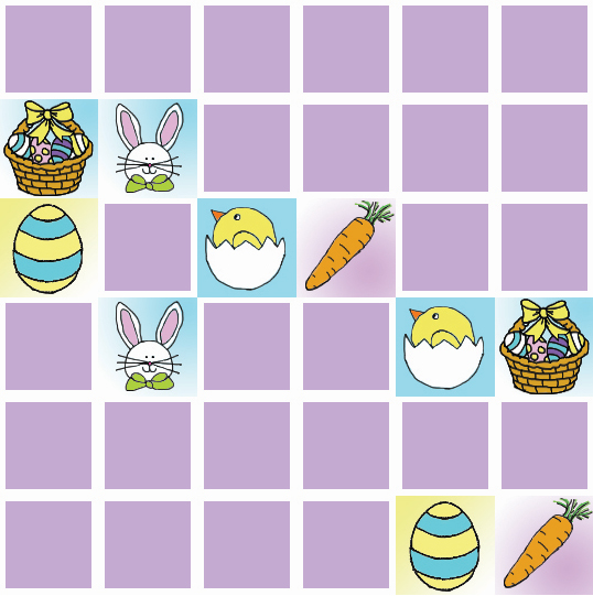 Easter Pictures Memory Game