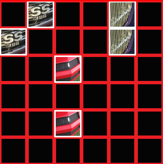 Vintage Car Grilles Memory Game