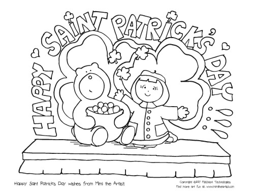 St. Patrick\'s Day Coloring Page