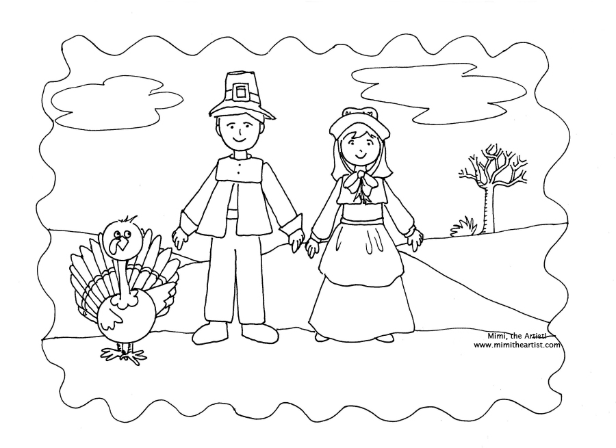 Coloring Page for Thanksgiving